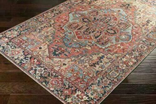 Artistic Rug, 5' x Red/Wheat