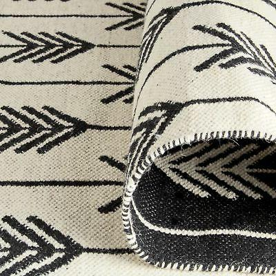 Rivet Arrow Rug, Ivory