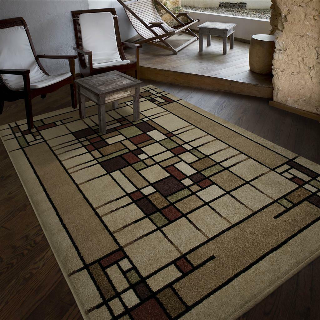 Arts Crafts Mission Style Indoor Outdoor Area Rug