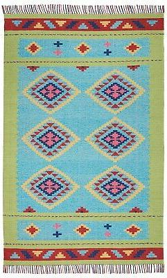 Nourison Baja Blue/Green Area Rug