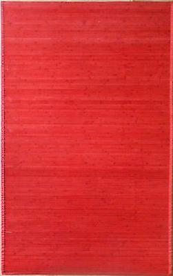 Bamboo Rug Red 5'x8' Area Rug Home Decor Factory 2nd