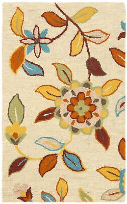 Safavieh BLM677-4 Blossom 4' x 6' Rectangle Wool Hand Tufted
