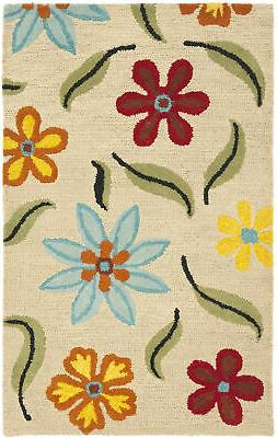 Safavieh BLM678-4 Blossom 4' x 6' Rectangle Wool Hand Tufted