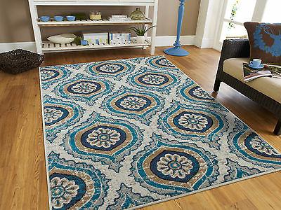 Blue Modern Large Area Rugs 8x10 Carpet