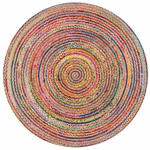 nuLOOM Braided Bohemian Jute and Blend Area Rug in Multicolor