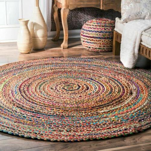 nuLOOM Bohemian Natural Jute Cotton Blend Area Rug in