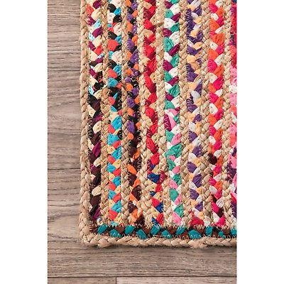 nuLOOM Bohemian Jute and Cotton Blend Area Rug in