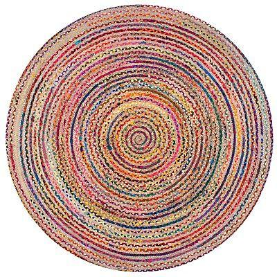 nuLOOM Braided Natural Jute Area Rug in