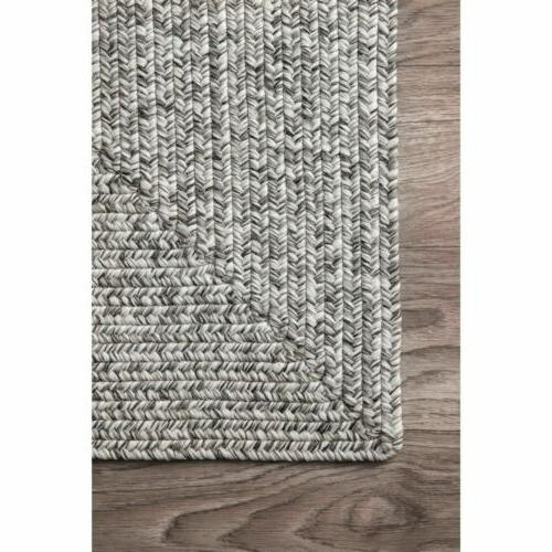 nuLOOM Braided Modern Indoor Outdoor Area Rug in Gray