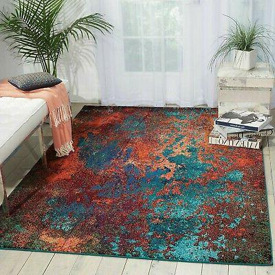 Celestial Atlantic Rug Colorful By
