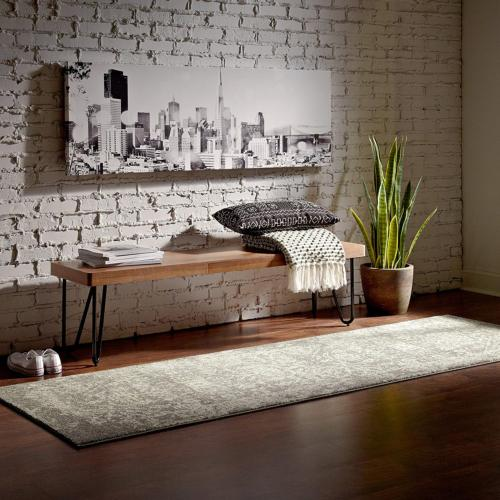 charcoal distressed medallion area rug 2 8