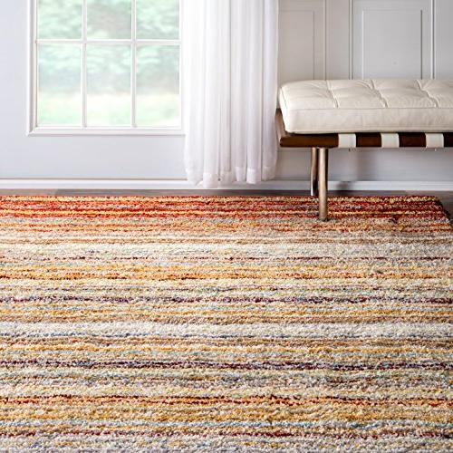 nuLOOM Collection Hand Made Area Rug, by 8-Feet, Red Multi