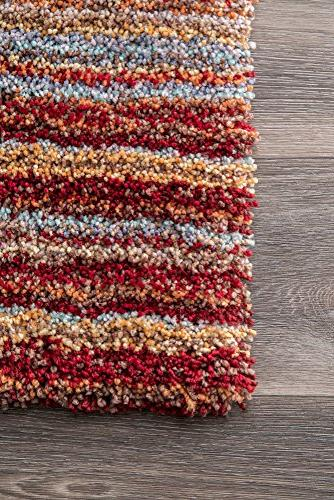 nuLOOM Collection Made Rug, 5-Feet by Red Multi