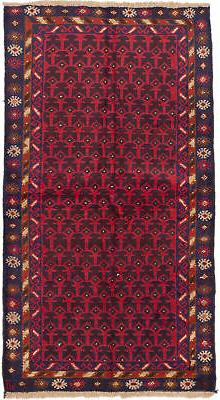 "CLEARANCE SALE...Hand-knotted Afghan Carpet 3'8"" x 6'6"" Hera"