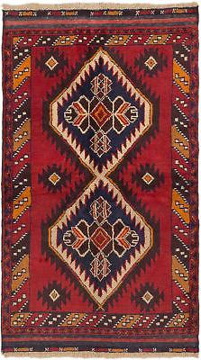 "CLEARANCE SALE...Hand-knotted Afghan Carpet 3'5"" x 6'1"" Kaza"