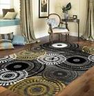 """Rugshop Contemporary Circles Area Rug, 7' 10"""" x 10' 2"""", Yell"""