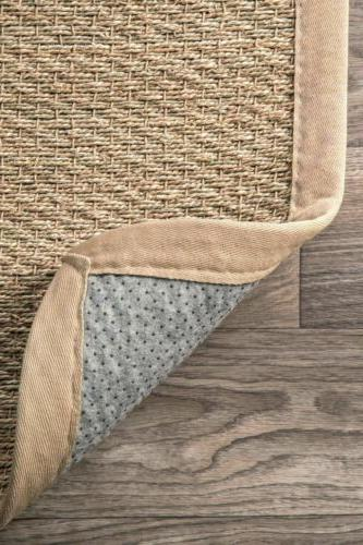 nuLOOM Contemporary Natural Seagrass with Border Area