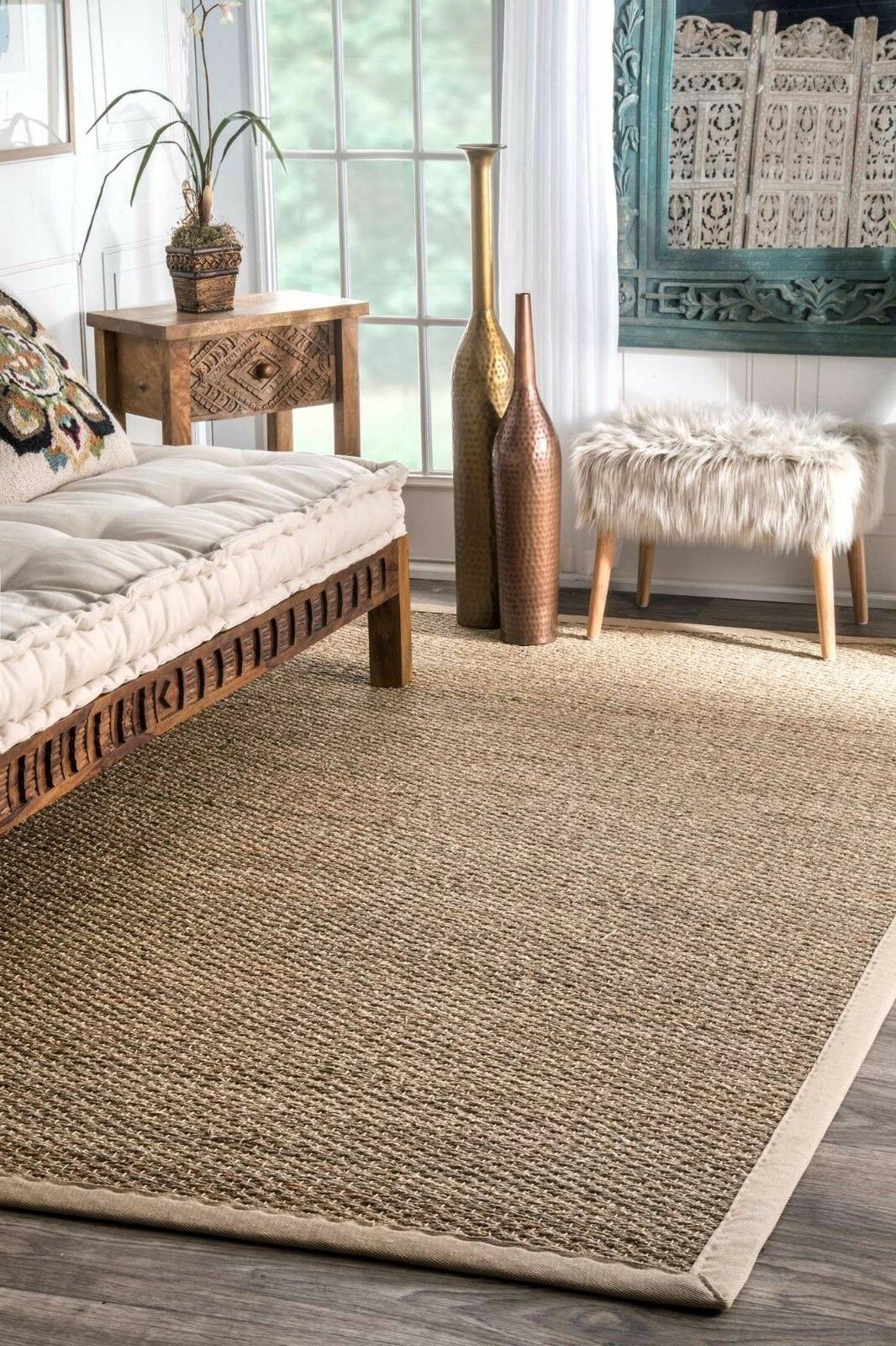 nuLOOM Natural Seagrass with Area Rug