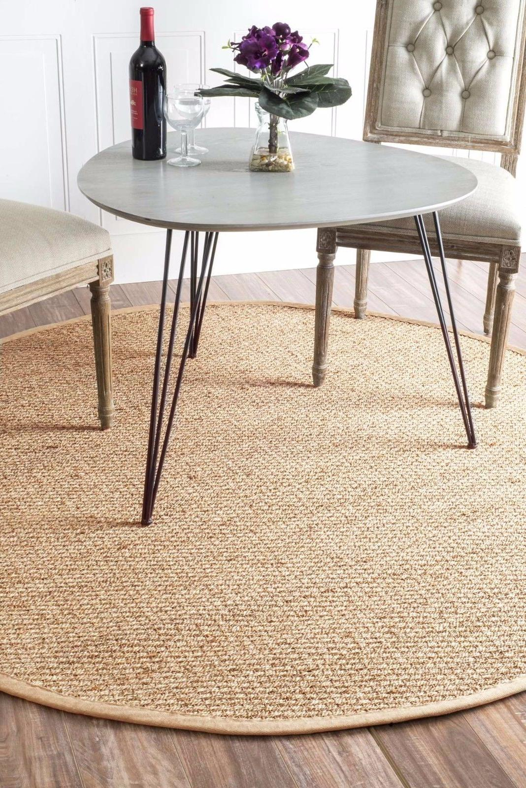 nuLOOM Contemporary Seagrass with Beige Area Rug