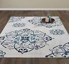 DIAGONA DESIGNS Contemporary Medallion Design Area Rug, Beig
