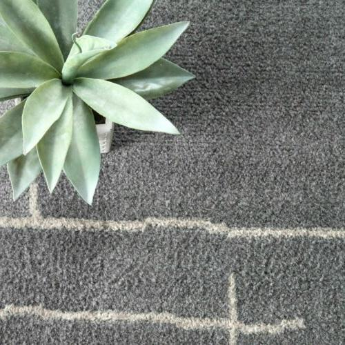nuLOOM Contemporary Abstract Area Rug in Grey