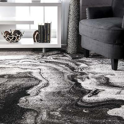 nuLOOM Marble Area Rug Grey, Off White