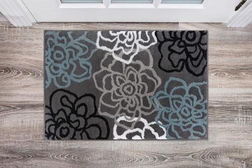 Rugshop Contemporary Modern Floral Flowers Area Rug, 2' x 3'