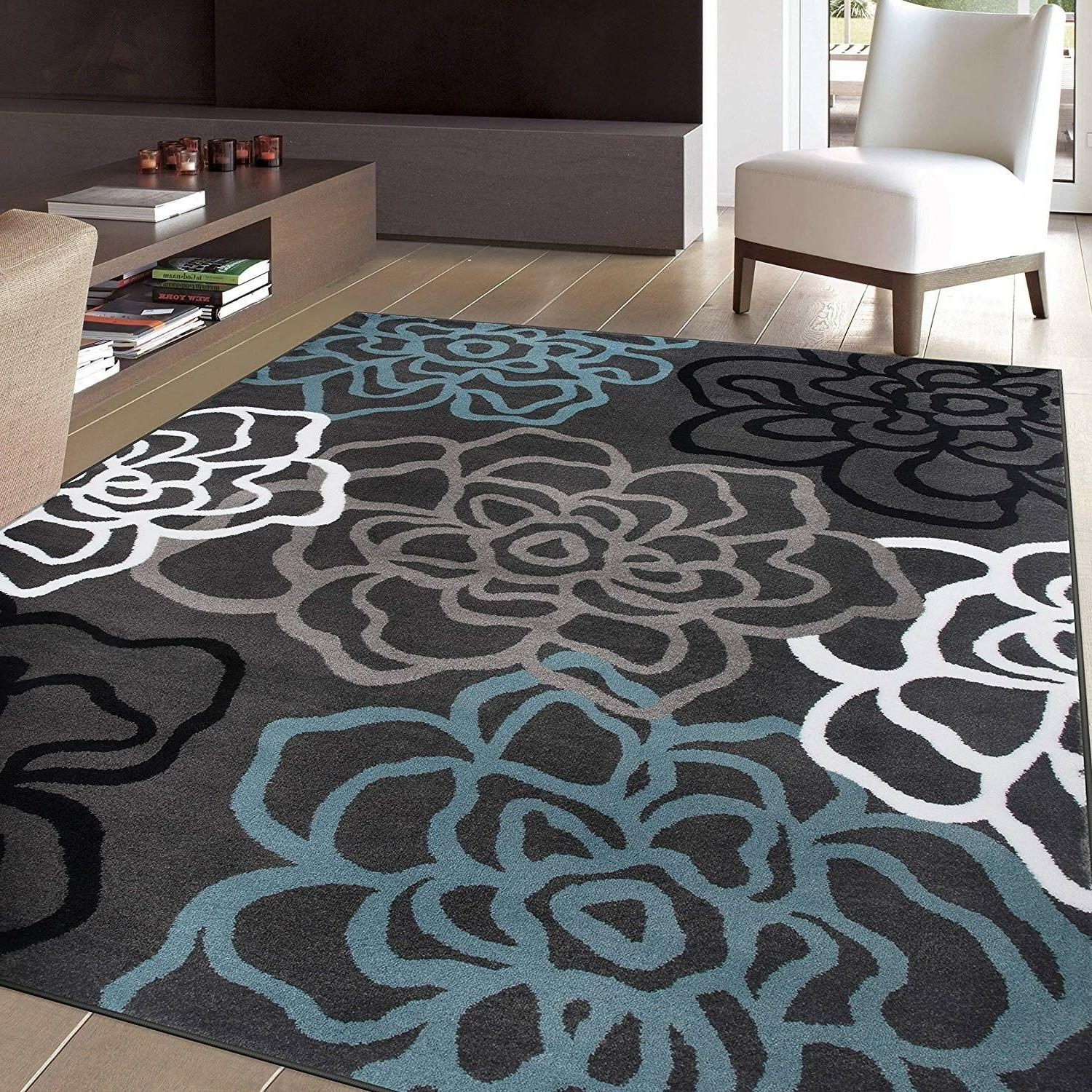contemporary modern floral flowers area rug 5