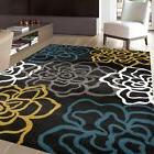 Rugshop Contemporary Modern Floral Flowers Area Rug, 9' x 12