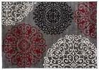 Rugshop Contemporary Modern Floral Indoor Soft Area Rug, 2'