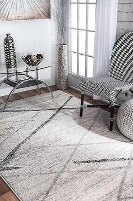 nuLOOM Contemporary Solid and Striped Rug