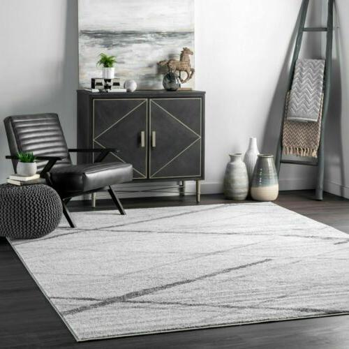 contemporary modern geometric solid and striped area