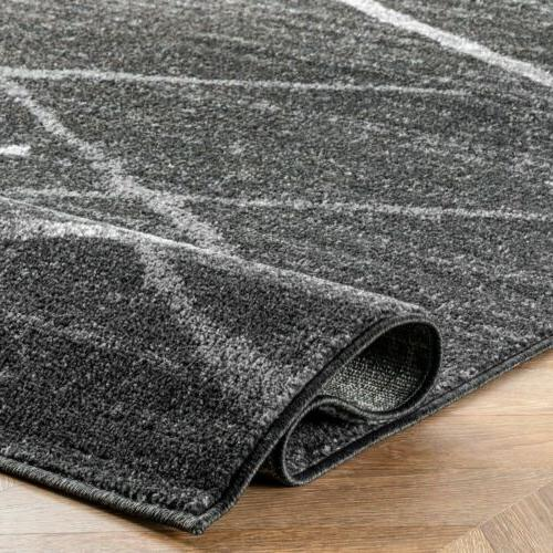 nuLOOM and Stripes Area Rug in Dark