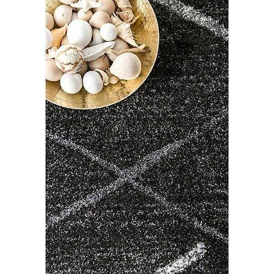 nuLOOM Contemporary Modern and Stripes Area Rug in Dark Grey