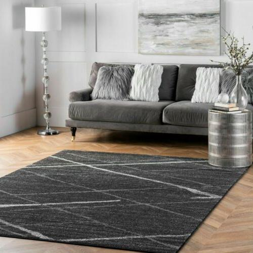 contemporary modern solid and stripes area rug