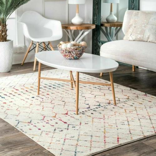 contemporary moroccan blythe area rug in light