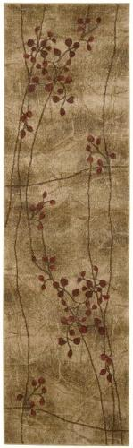 "Nourison Contemporary Runner Area Rug 2'3""x8' Latte Somerset"