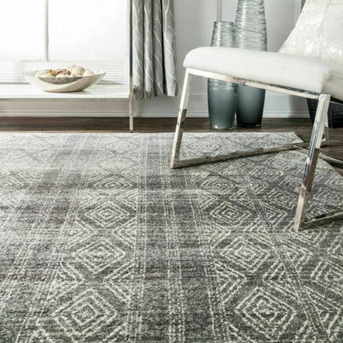 nuLOOM Contemporary Sarina Diamonds Area Rug Gray