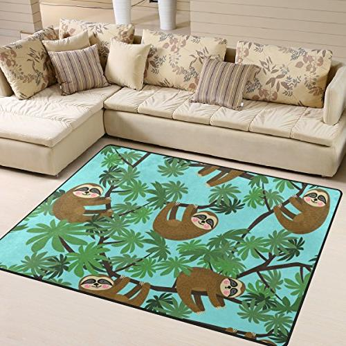 Cooper Sloths Rug Learning Carpet Room