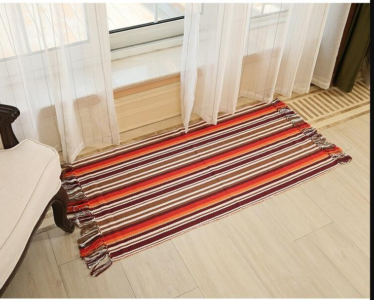 WINLIFE Cotton Carpets Decorative For Living Room/Bedroom Entrance Doormat Mats