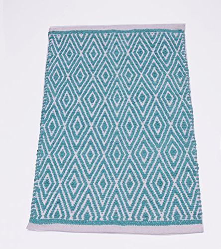 cotton diamond rug fully reversible