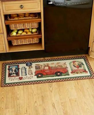 Farmhouse Kitchen Rug Farm Truck