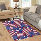 InterestPrint Custom United States Flag Home Mat Floor Rug D
