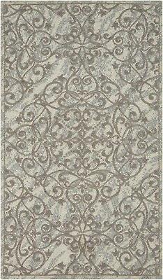 Nourison Damask Iv/Grey Area Rug