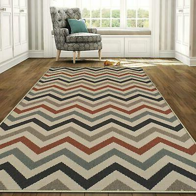 Superior Designer Chevron Indoor/Outdoor Area Rug collection