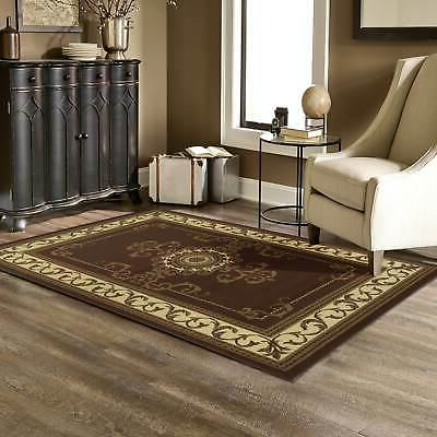 Superior Designer Kensington Brown Area Rug - 3' x 5'