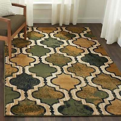 Superior Designer Viking Green Area Rug - 5' x 8'