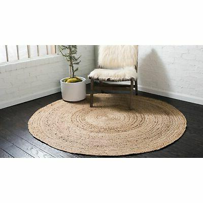 Unique Dhaka Braided Jute Rug - Round
