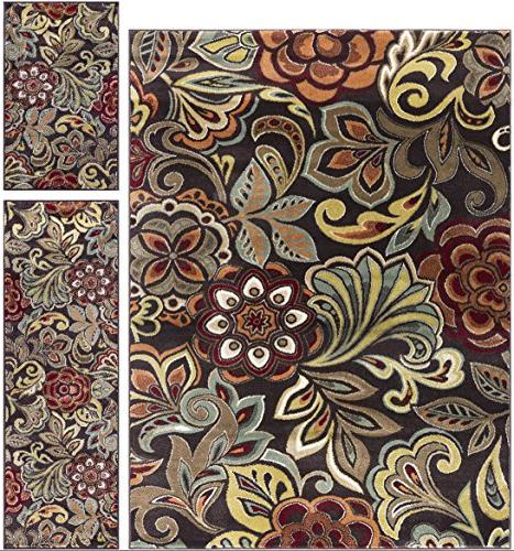 dilek transitional floral brown area