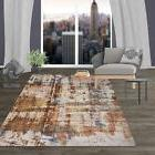 Rugshop Distressed Contemporary Abstract High-Low Texture Ar